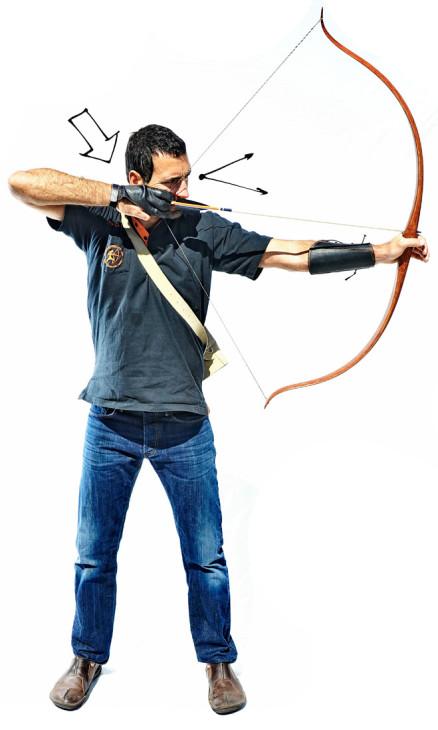 Ziel fokussieren beim intuitiven Bogenschießen